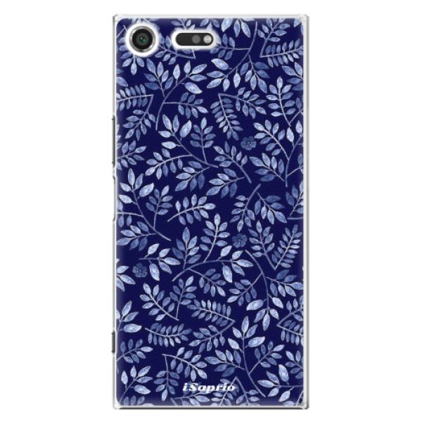 Plastové pouzdro iSaprio - Blue Leaves 05 - Sony Xperia XZ Premium