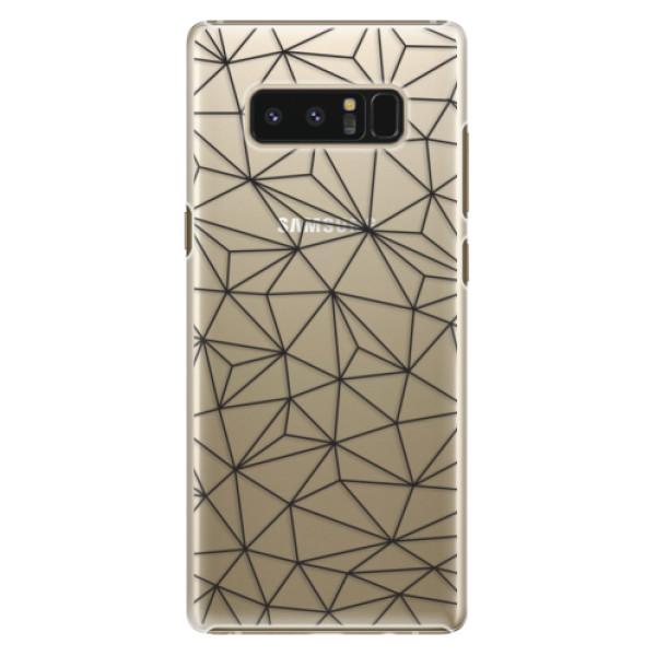 Plastové pouzdro iSaprio - Abstract Triangles 03 - black - Samsung Galaxy Note 8