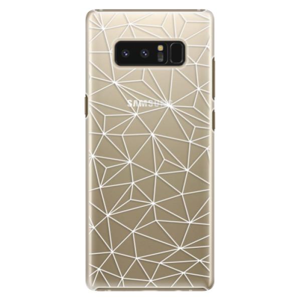 Plastové pouzdro iSaprio - Abstract Triangles 03 - white - Samsung Galaxy Note 8