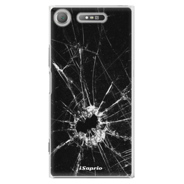 Plastové pouzdro iSaprio - Broken Glass 10 - Sony Xperia XZ1