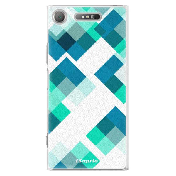 Plastové pouzdro iSaprio - Abstract Squares 11 - Sony Xperia XZ1