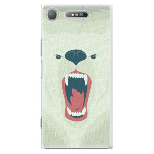 Plastové pouzdro iSaprio - Angry Bear - Sony Xperia XZ1