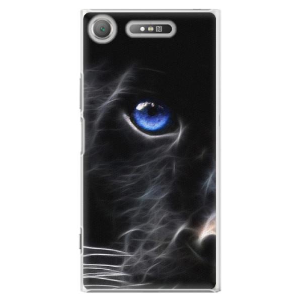 Plastové pouzdro iSaprio - Black Puma - Sony Xperia XZ1