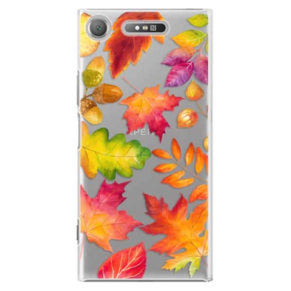 Plastové pouzdro iSaprio - Autumn Leaves 01 - Sony Xperia XZ1