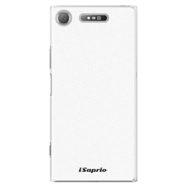 Plastové pouzdro iSaprio - 4Pure - bílý - Sony Xperia XZ1