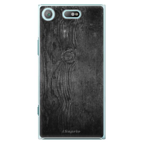 Plastové pouzdro iSaprio - Black Wood 13 - Sony Xperia XZ1 Compact