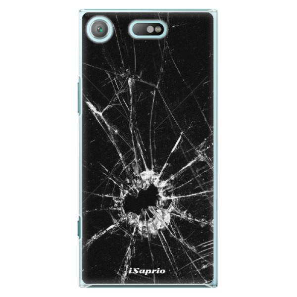 Plastové pouzdro iSaprio - Broken Glass 10 - Sony Xperia XZ1 Compact