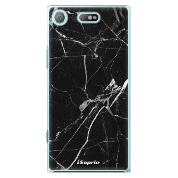 Plastové pouzdro iSaprio - Black Marble 18 - Sony Xperia XZ1 Compact