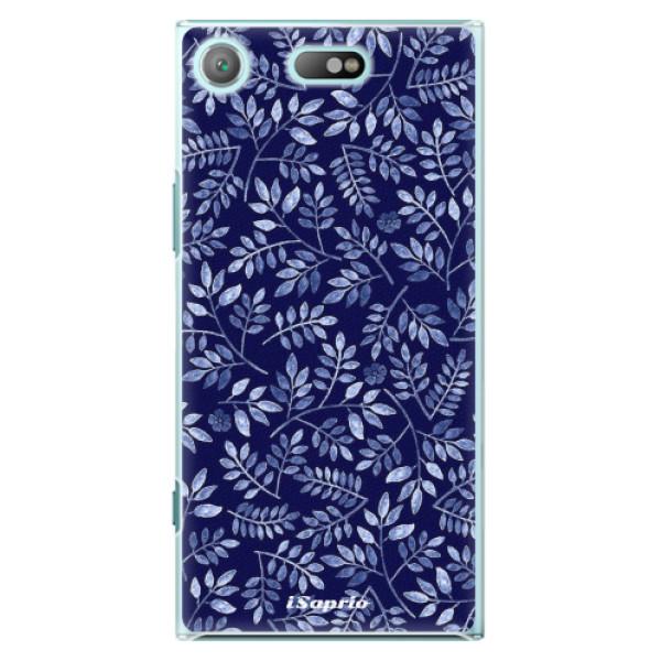 Plastové pouzdro iSaprio - Blue Leaves 05 - Sony Xperia XZ1 Compact