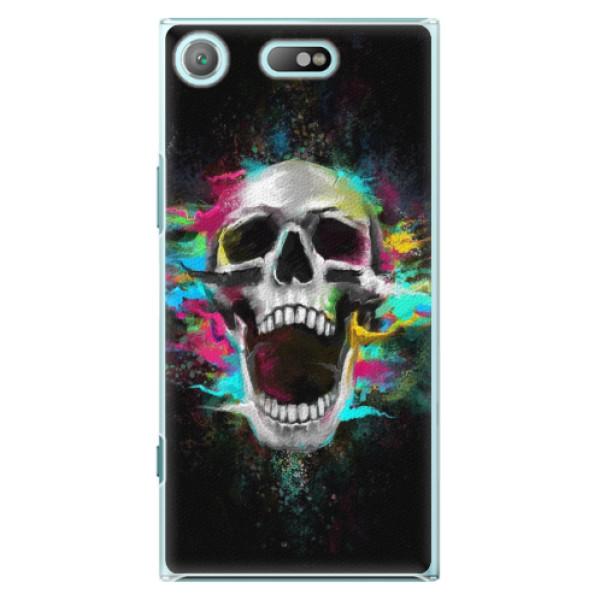 Plastové pouzdro iSaprio - Skull in Colors - Sony Xperia XZ1 Compact