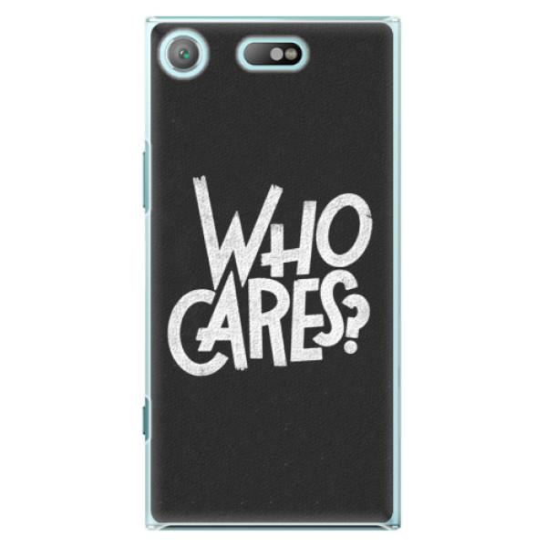 Plastové pouzdro iSaprio - Who Cares - Sony Xperia XZ1 Compact