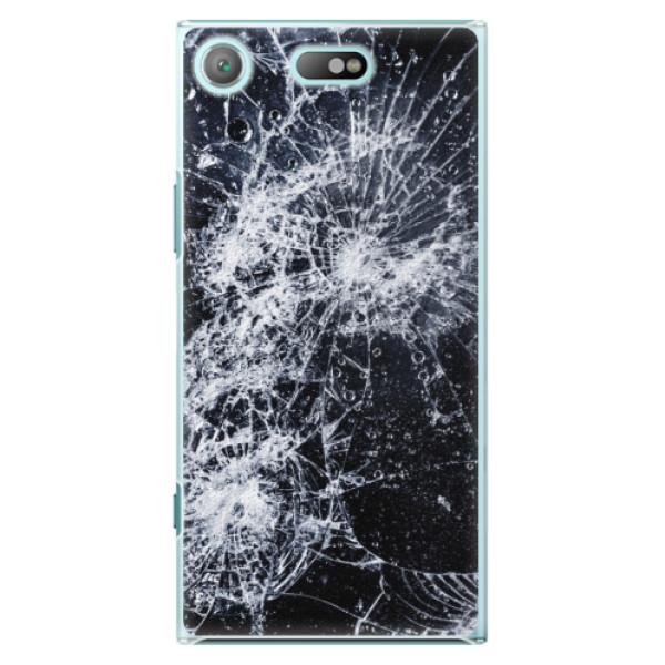 Plastové pouzdro iSaprio - Cracked - Sony Xperia XZ1 Compact