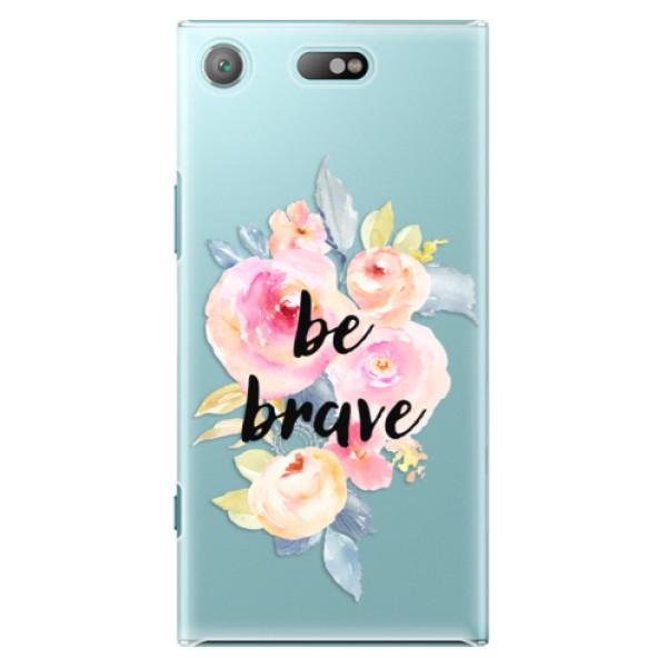 Plastové pouzdro iSaprio - Be Brave - Sony Xperia XZ1 Compact
