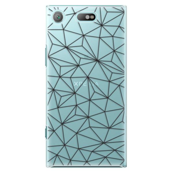 Plastové pouzdro iSaprio - Abstract Triangles 03 - black - Sony Xperia XZ1 Compact