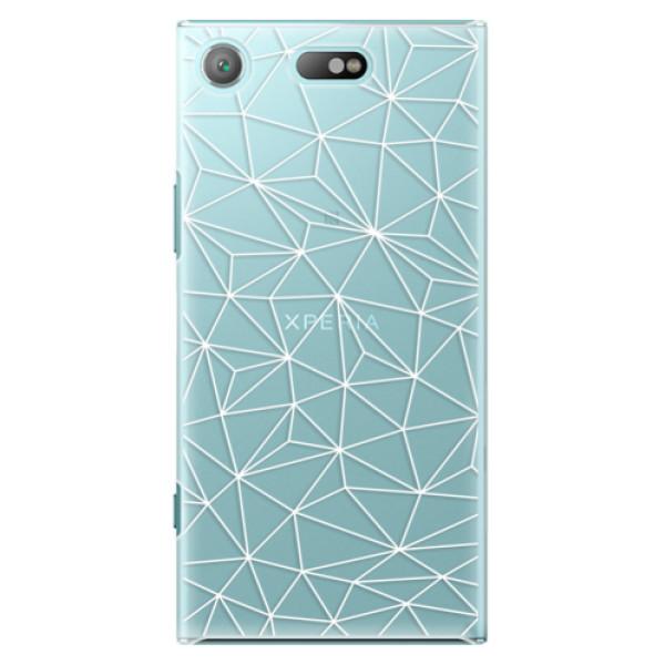 Plastové pouzdro iSaprio - Abstract Triangles 03 - white - Sony Xperia XZ1 Compact