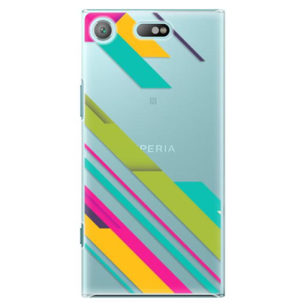 Plastové pouzdro iSaprio - Color Stripes 03 - Sony Xperia XZ1 Compact
