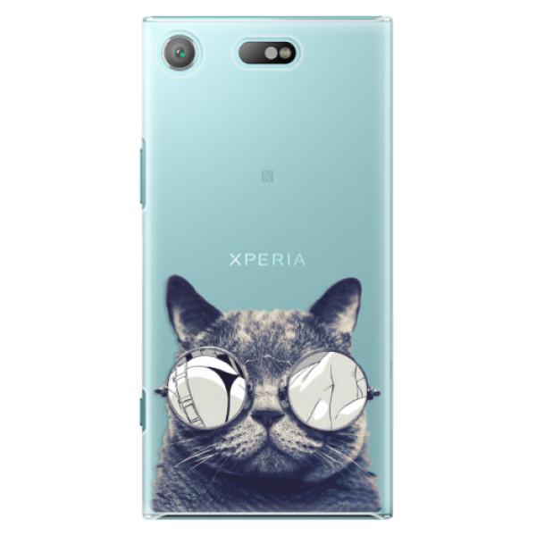 Plastové pouzdro iSaprio - Crazy Cat 01 - Sony Xperia XZ1 Compact