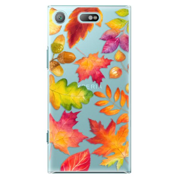 Plastové pouzdro iSaprio - Autumn Leaves 01 - Sony Xperia XZ1 Compact