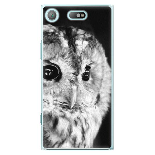 Plastové pouzdro iSaprio - BW Owl - Sony Xperia XZ1 Compact
