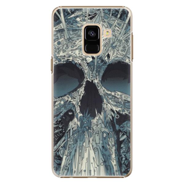 Plastové pouzdro iSaprio - Abstract Skull - Samsung Galaxy A8 2018