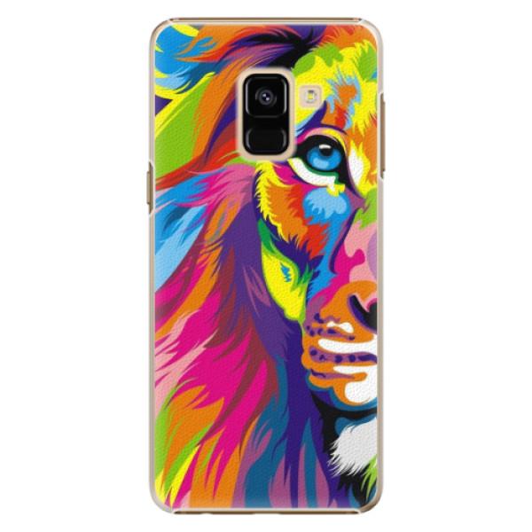 Plastové pouzdro iSaprio - Rainbow Lion - Samsung Galaxy A8 2018