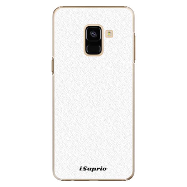 Plastové pouzdro iSaprio - 4Pure - bílý - Samsung Galaxy A8 2018