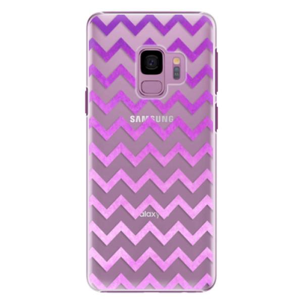 Plastové pouzdro iSaprio - Zigzag - purple - Samsung Galaxy S9