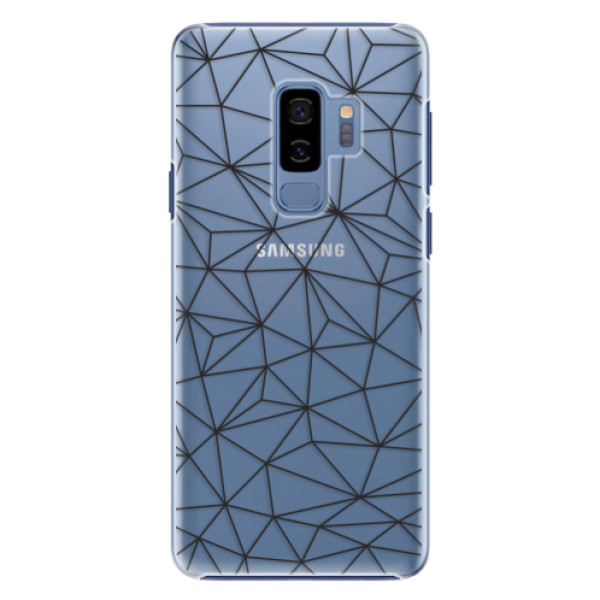 Plastové pouzdro iSaprio - Abstract Triangles 03 - black - Samsung Galaxy S9 Plus