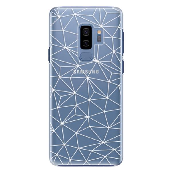 Plastové pouzdro iSaprio - Abstract Triangles 03 - white - Samsung Galaxy S9 Plus