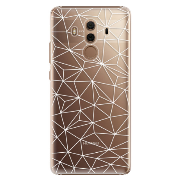 Plastové pouzdro iSaprio - Abstract Triangles 03 - white - Huawei Mate 10 Pro