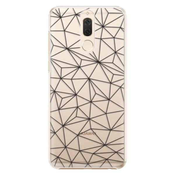 Plastové pouzdro iSaprio - Abstract Triangles 03 - black - Huawei Mate 10 Lite