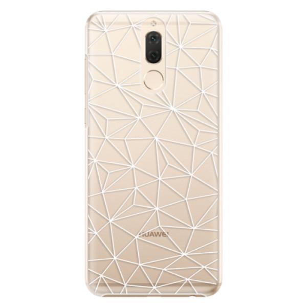 Plastové pouzdro iSaprio - Abstract Triangles 03 - white - Huawei Mate 10 Lite