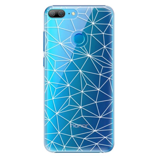 Plastové pouzdro iSaprio - Abstract Triangles 03 - white - Huawei Honor 9 Lite