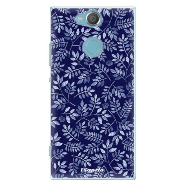 Plastové pouzdro iSaprio - Blue Leaves 05 - Sony Xperia XA2