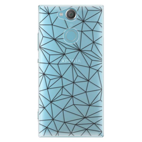 Plastové pouzdro iSaprio - Abstract Triangles 03 - black - Sony Xperia XA2