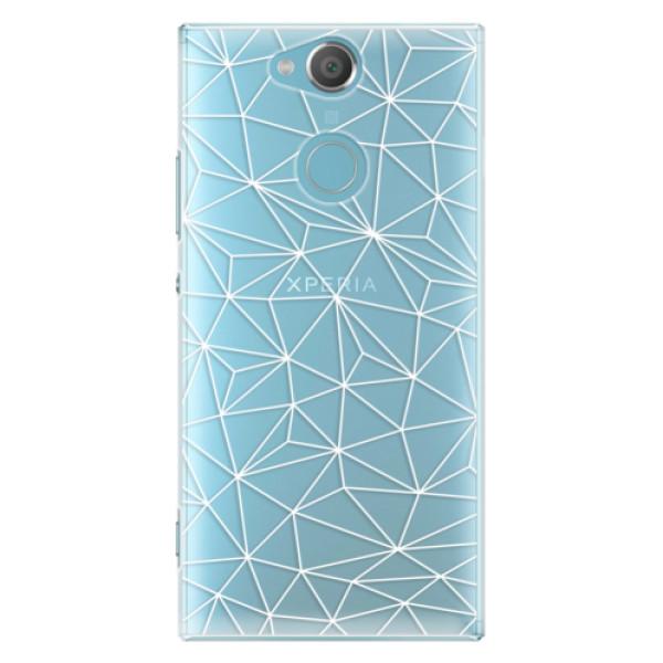 Plastové pouzdro iSaprio - Abstract Triangles 03 - white - Sony Xperia XA2
