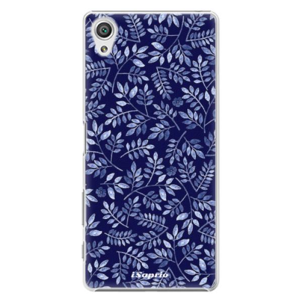 Plastové pouzdro iSaprio - Blue Leaves 05 - Sony Xperia X