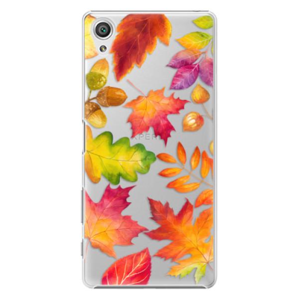Plastové pouzdro iSaprio - Autumn Leaves 01 - Sony Xperia X