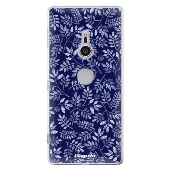 Plastové pouzdro iSaprio - Blue Leaves 05 - Sony Xperia XZ2