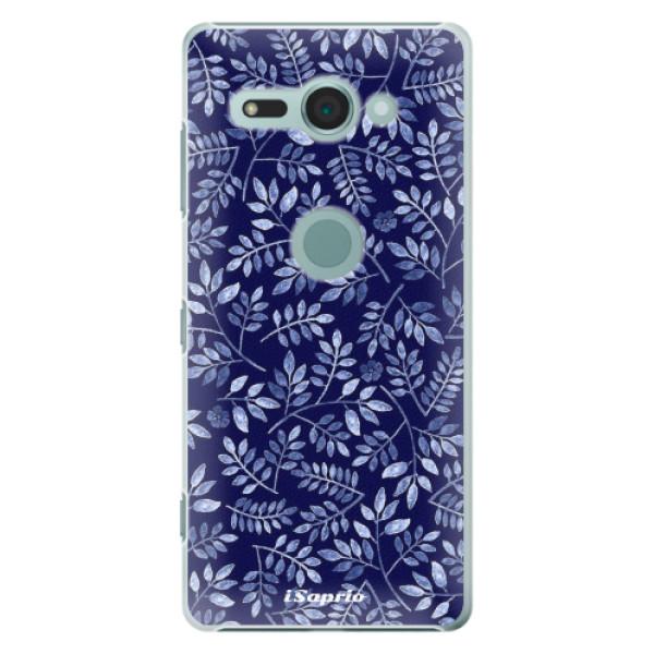 Plastové pouzdro iSaprio - Blue Leaves 05 - Sony Xperia XZ2 Compact