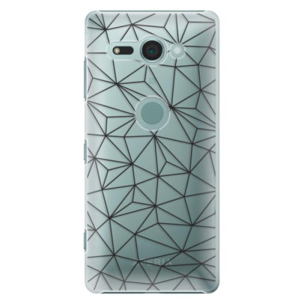 Plastové pouzdro iSaprio - Abstract Triangles 03 - black - Sony Xperia XZ2 Compact