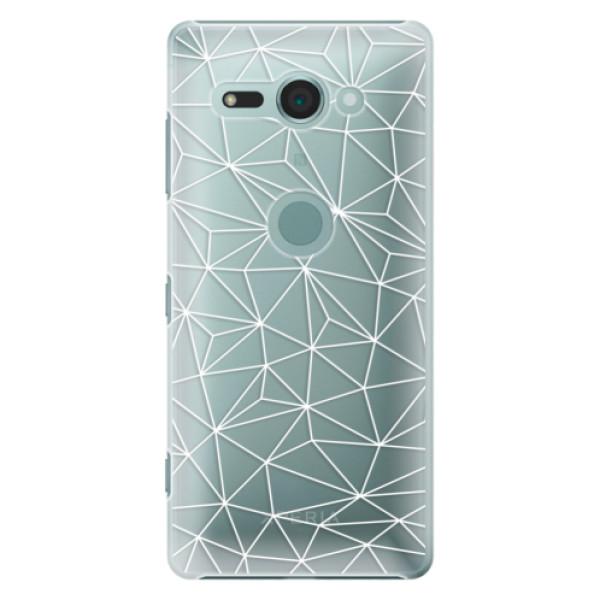 Plastové pouzdro iSaprio - Abstract Triangles 03 - white - Sony Xperia XZ2 Compact