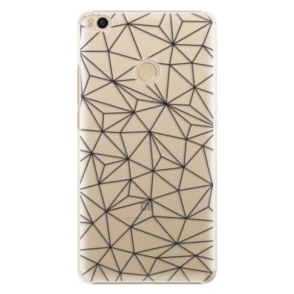Plastové pouzdro iSaprio - Abstract Triangles 03 - black - Xiaomi Mi Max 2