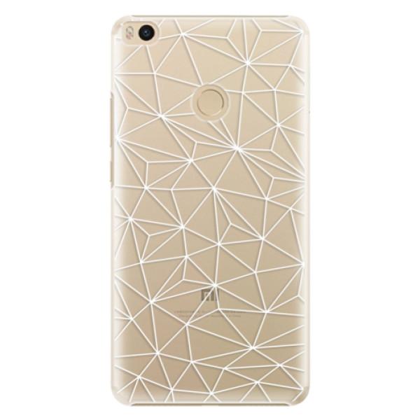 Plastové pouzdro iSaprio - Abstract Triangles 03 - white - Xiaomi Mi Max 2