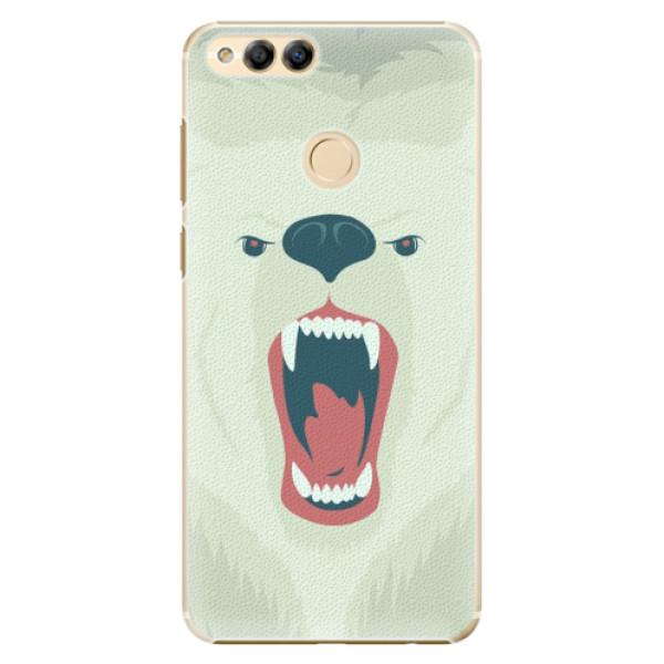 Plastové pouzdro iSaprio - Angry Bear - Huawei Honor 7X