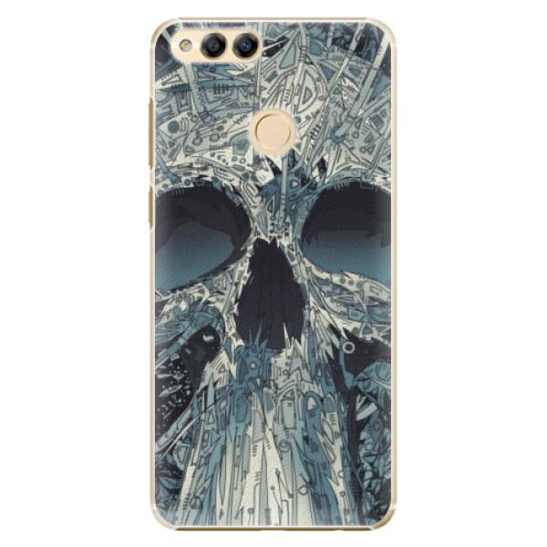 Plastové pouzdro iSaprio - Abstract Skull - Huawei Honor 7X