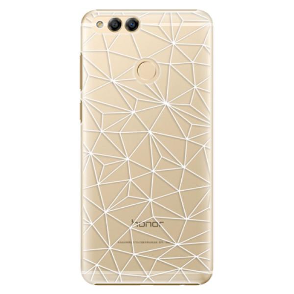 Plastové pouzdro iSaprio - Abstract Triangles 03 - white - Huawei Honor 7X
