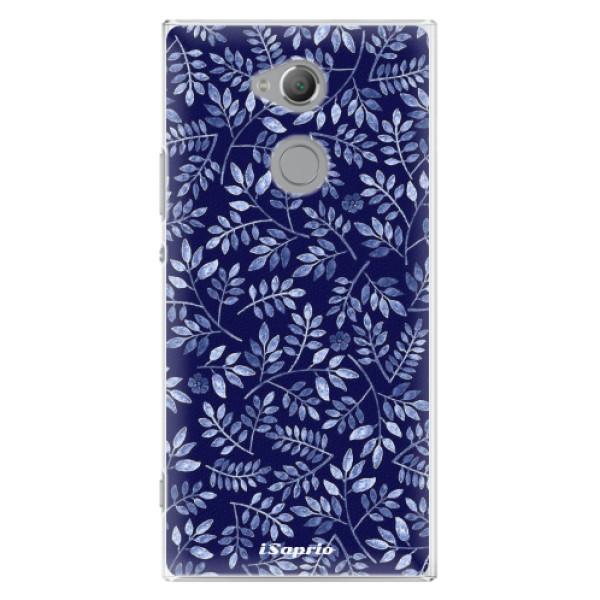 Plastové pouzdro iSaprio - Blue Leaves 05 - Sony Xperia XA2 Ultra