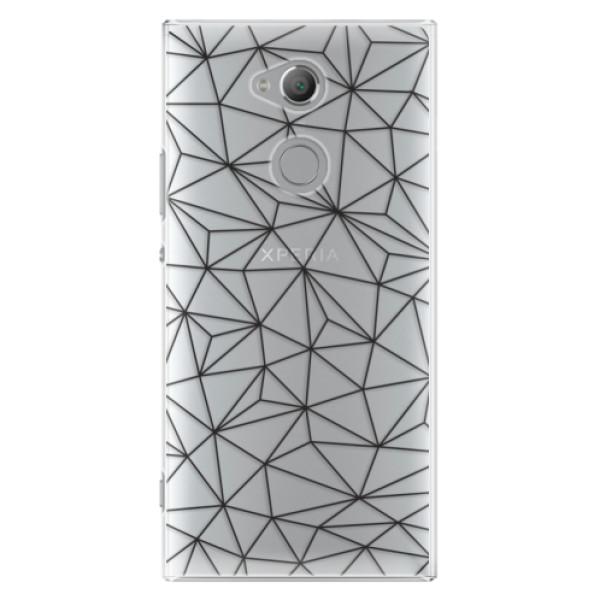 Plastové pouzdro iSaprio - Abstract Triangles 03 - black - Sony Xperia XA2 Ultra