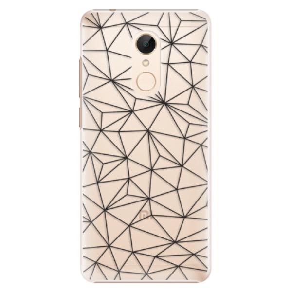 Plastové pouzdro iSaprio - Abstract Triangles 03 - black - Xiaomi Redmi 5